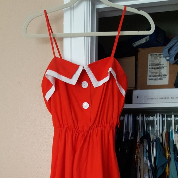 Dresses & Skirts - Vintage Bright Red Dress in Amazing Condition!